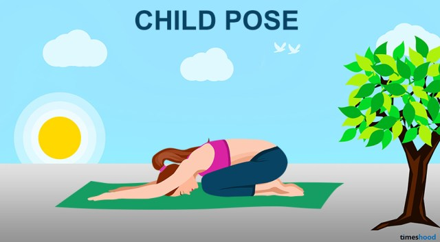 Child-Pose-Yoga - 10 easy Yoga pose for neck and back pain to feel more active