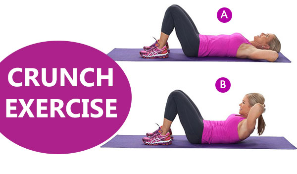 Crunch Exercise - Weight loss workout.