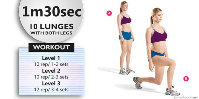 LUNGES - Morning workout routine for beginners at home