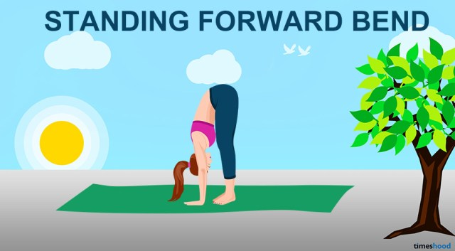 Standing Forward Bend Yoga Pose - 11 Yoga Pose for Neck and Back Pain
