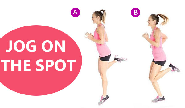 Jog on the spot - 10 weight loss workout in evening.