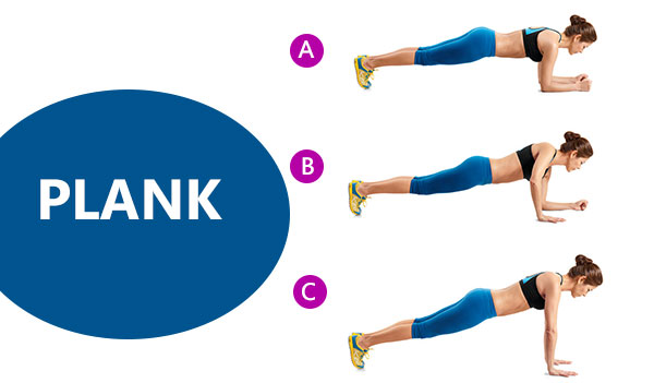 Plank Push Ups - 10 effective fat burn evening workout.