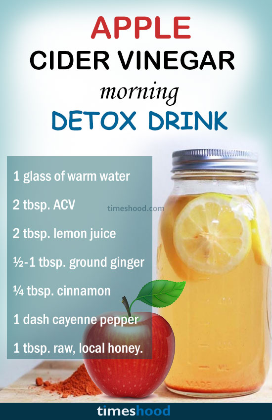 Try this apple cider vinegar detox drink for flat belly. This is powerful  detox drink