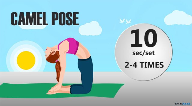 Camel Yoga For Flexibility Try Sequence Flat Stomach Routine