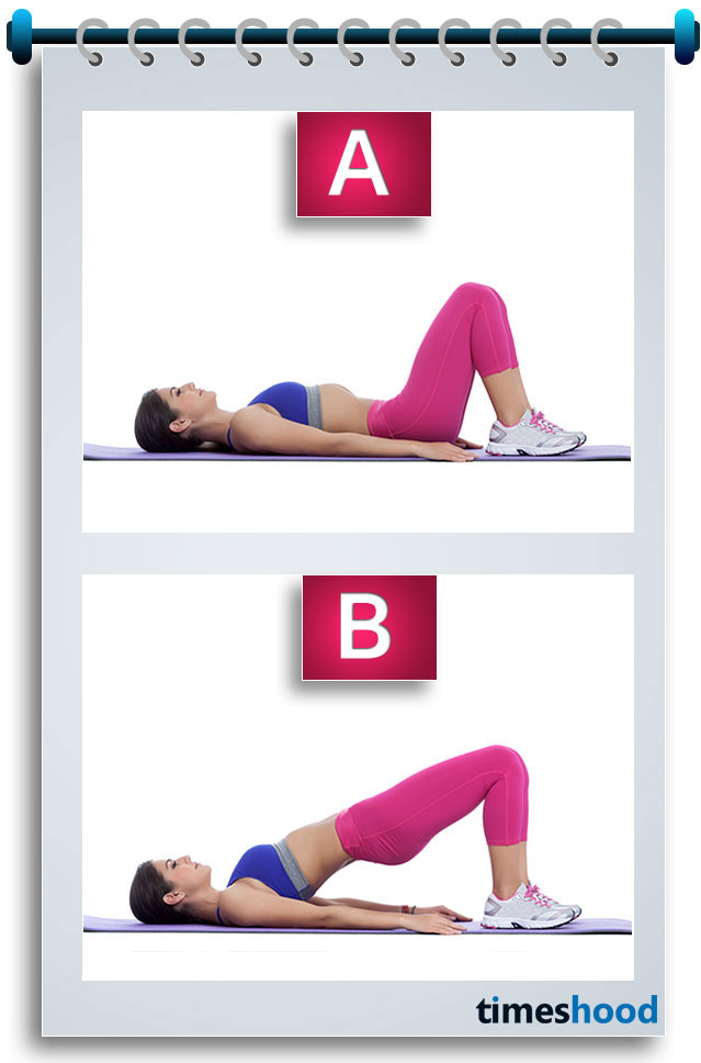 Want bigger butt and sexy toned legs? Then try this workout plan and 4 weeks challenge to get bubbly bigger butt and sexy legs. Hip bridge or Glute Bridge are most effective yoga pose for bigger butt and toned thighs and legs. I am sure this yoga pose help you to bring your confidence back about perfect shape.
