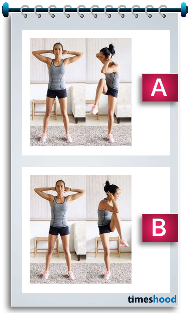 Want a lifted Round Booty? Want to look hot in your bikini? Then give this workout a try. Standing bicycle crunch is one of the effective exercise for bikini body, a perfect shape of your butt and sexy legs that can turn many faces around you.