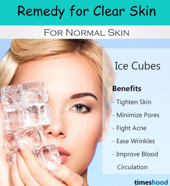 Ice cubes for face, ice cubes for clear skin, ice cubes for fair skin, How to get clear skin fast? Home remedies for clear skin. Clear skin tips.