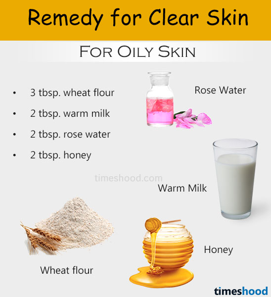 Wheat flour, milk rose water and honey face mask for clear skin. Home remedies for clear skin. Get clear face without pimples and marks. Clear skin tips.