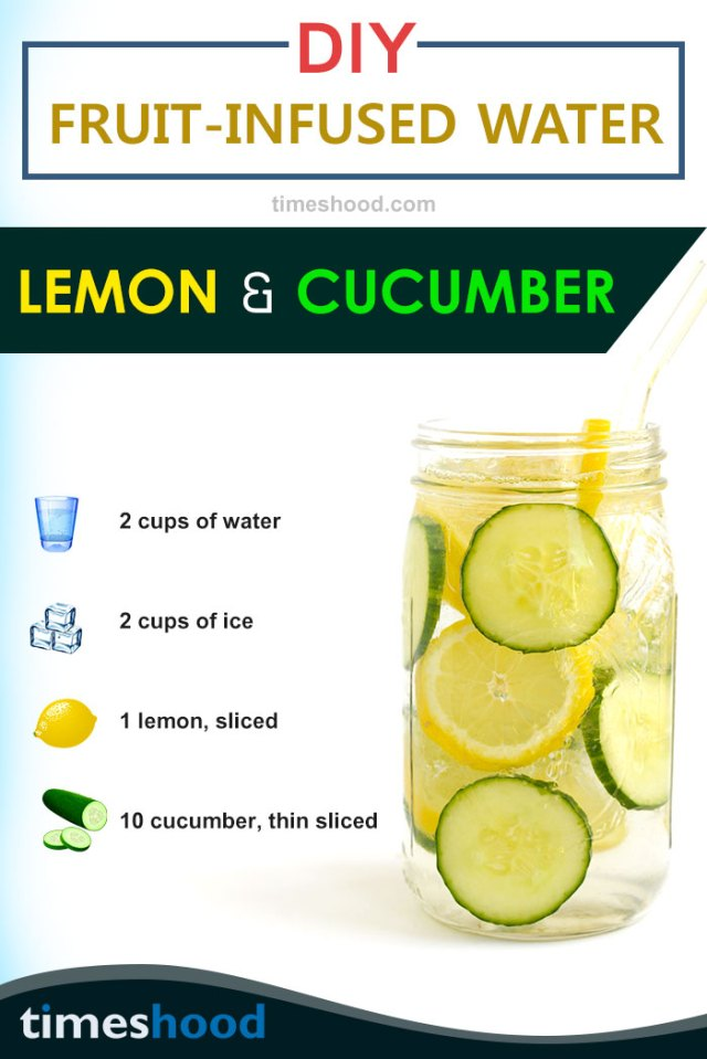 For gorgeous looking outfit, try lemon cucumber infused water. Boosting metabolism, clear skin and weight loss are few benefits of this detox water recipes. Get 6 more DIY infused water recipes here.