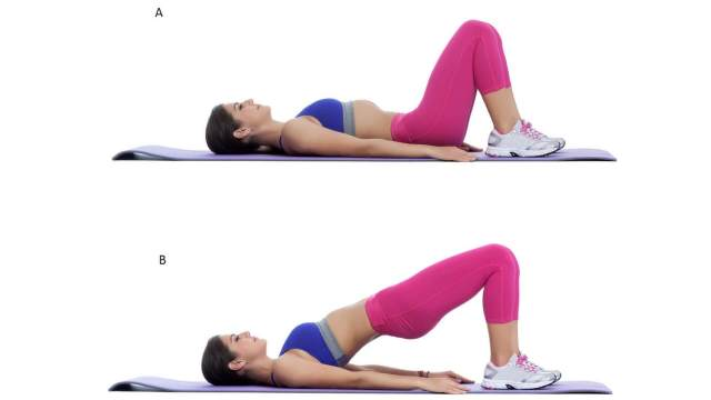 Want to get abs fast? try 2 weeks abs challenge for fast results. Glute Bridge Exercise for Abs. best abs workout for flat abs. Abdominal exercise.
