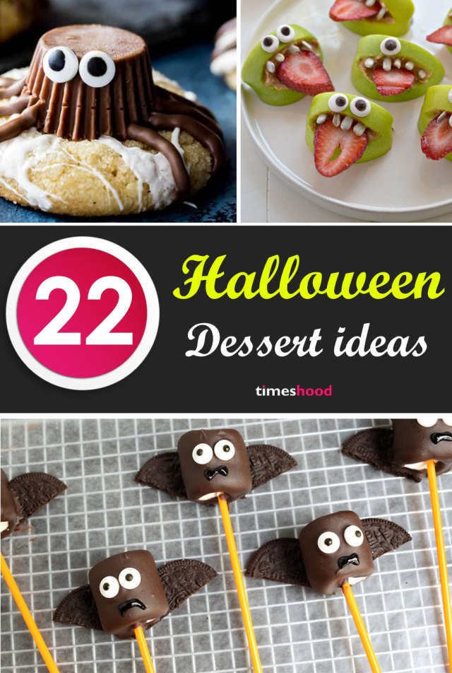 Try these 22 delicious and easy Halloween dessert ideas for party. Ghost, monster, spider cookies, foods and drinks ideas for Halloween party. Tasty Halloween treats for kids. Halloween tricks and treat for kids. Halloween spooky foods ideas for adults. Halloween party food ideas. Halloween dessert ideas.