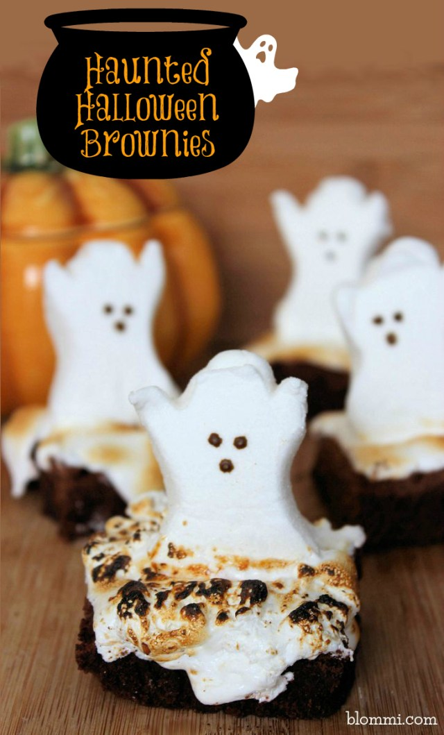 Try these 22 easy Halloween dessert recipes. Haunted Halloween ghost brownies recipes for kids. Halloween spooky foods ideas for kids. Easy Halloween food ideas. Easy Halloween treats for schools. Halloween treats for kids. Halloween treats for school parties. Halloween tricks and treats food ideas. Halloween fun ghost recipes for night. Halloween food ideas.