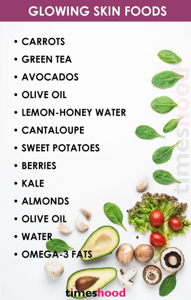 Want glowing skin naturally? Eat these natural glowing skin food regularly for healthier skin tone. Anti-aging foods for women. Healthy skin food.