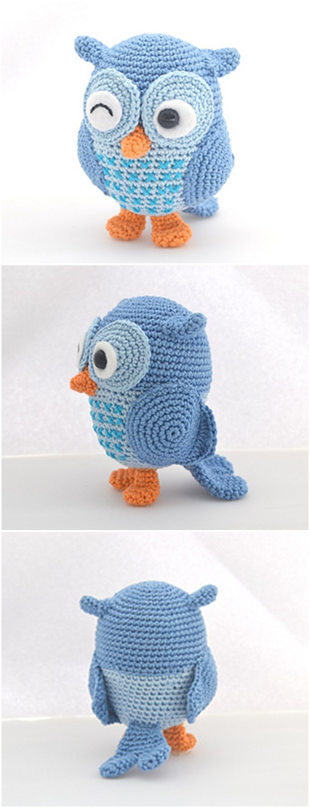 Cute owl crochet pattern for free. Best crochet animal pattern to start with. Amigurumi crochet pattern ideas for baby animals.
