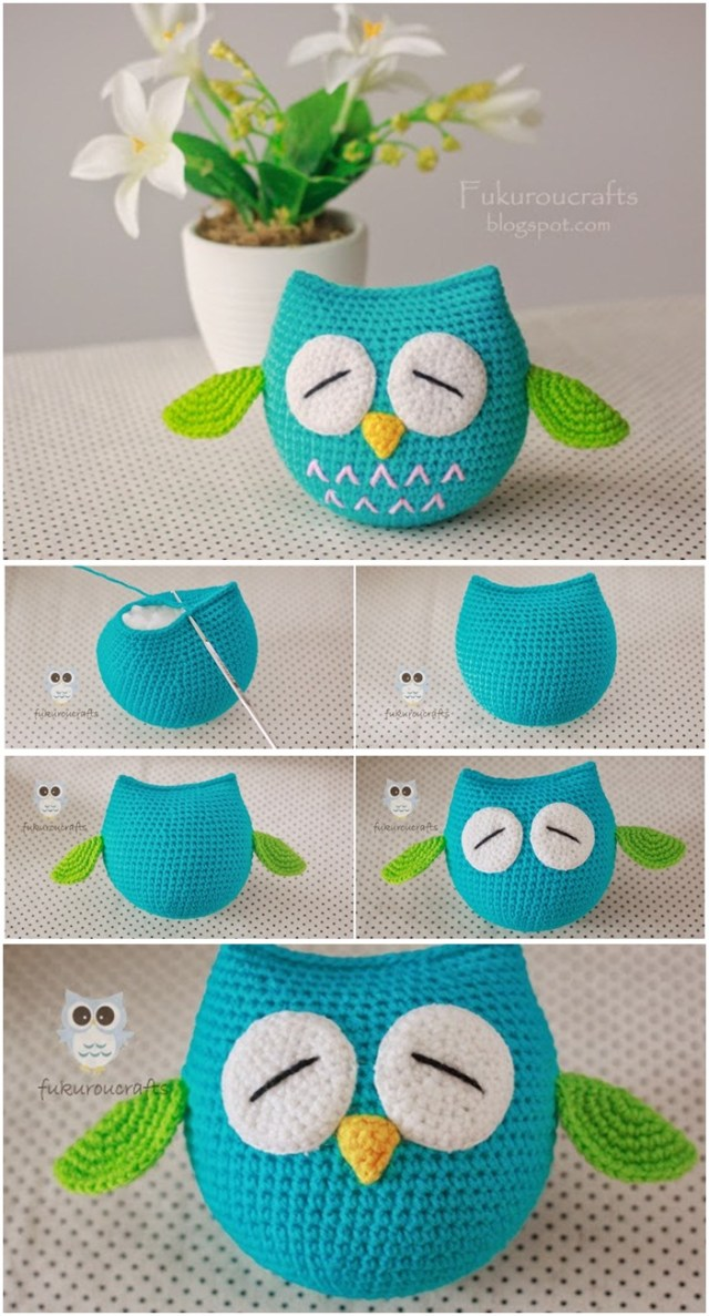 Cute owl crochet pattern for beginners. Best amigurumi owl crochet pattern. Easy animal crochet pattern ideas you'll love.