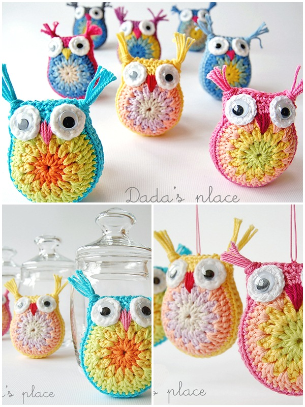 Little owl amirgurmi crochet design ideas. Best free crochet designs. Baby animals crochet ideas.