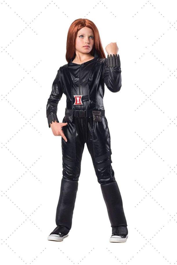Show your girl's superhero side in Black Widow costume. Civil war black window Costume Ideas for girl child on Halloween.