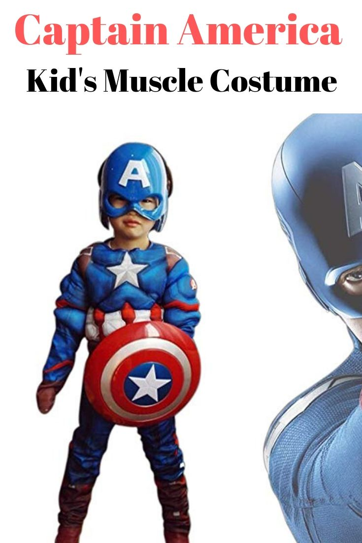 Boys Avengers Deluxe Vision Muscle Chest Costume