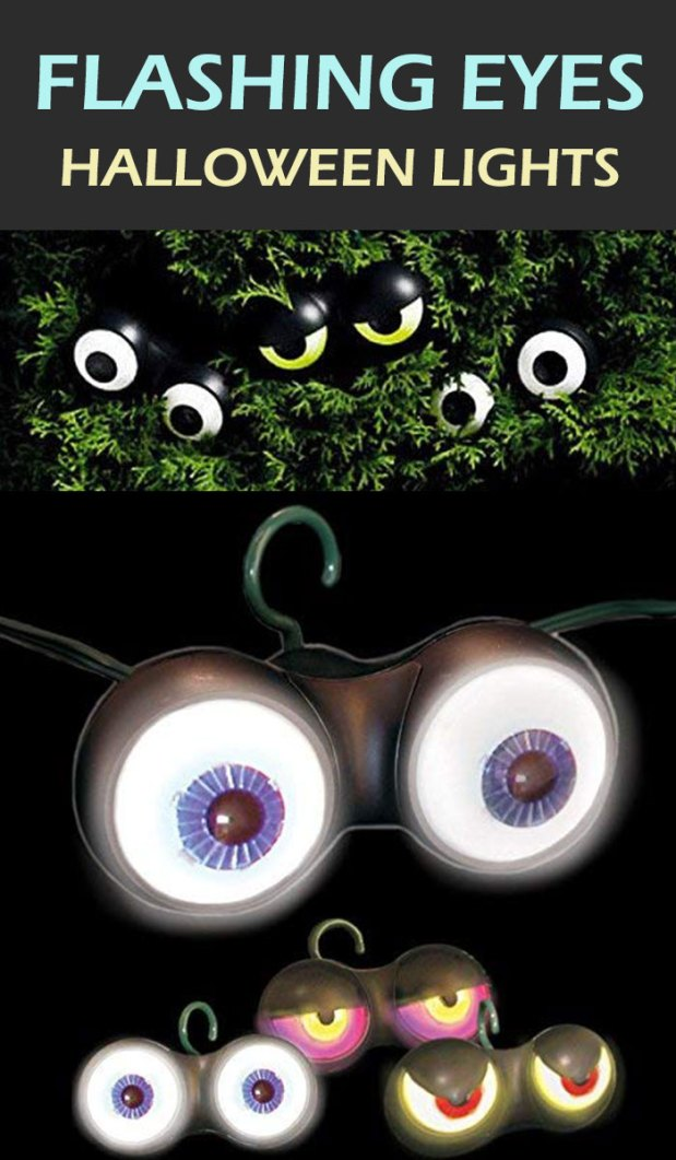 Try these best Halloween decorations light eyes for perfect spook. This eye catching outdoor Halloween decoration is simply awesome in budget. Get more fun and crazy Halloween decoration ideas.