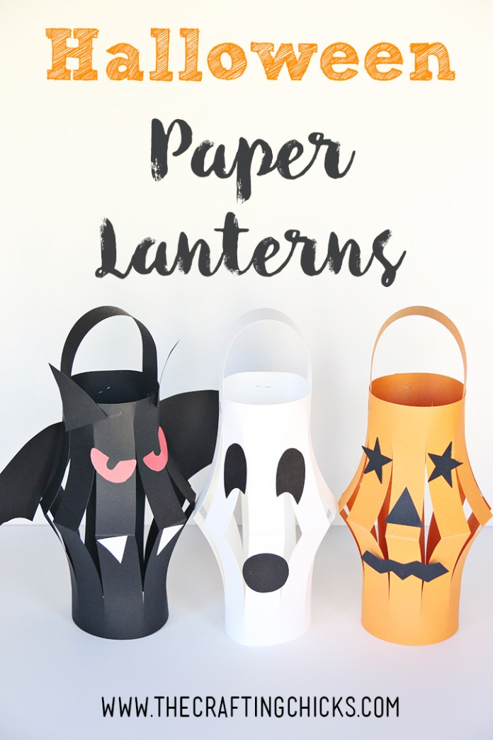 Halloween Paper Lanterns Kid Craft are a great craft for Halloween class parties or just any time. These are the perfect decoration for Halloween. Best Halloween party decoration ideas.