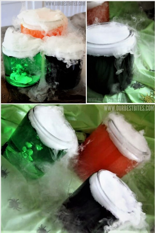 """This fun """"Mad Scientist Potion"""" is perfect for a spooky party! Funny Halloween Drinks ideas for Kids. Happy Halloween!"""