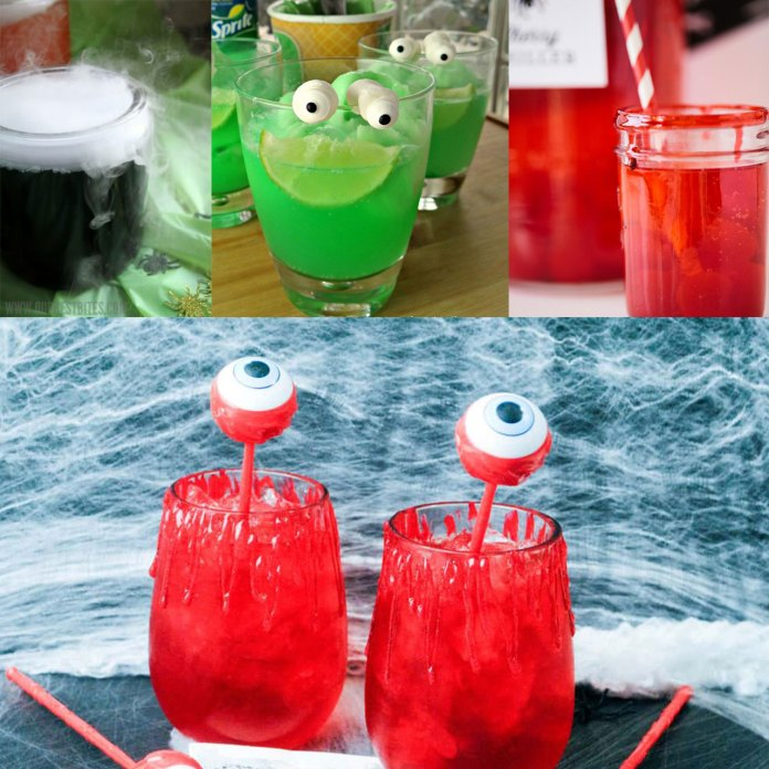 10+ Spooky drinks recipes ideas for Halloween parties. Non-alcoholic and so much fun! Funny Halloween Drinks ideas for Kids.