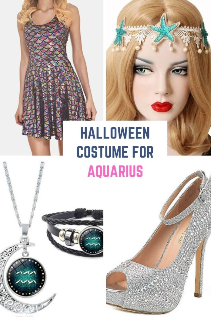 Hey Aquarius, looks simply awesome with in this super-hot fish costumes and starfish head band. Find 12 more Halloween costume ideas for your zodiac sign. Halloween costume for astrology lovers.