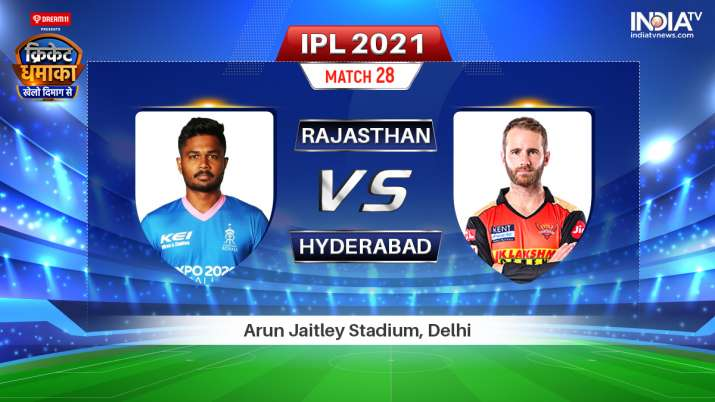 real time IPL 2021 complement RR vs SRH: Check out Rajasthan Royals vs Sunrisers Hyderabad Live on line on Hotstar