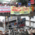 KMSS staged protest of ban on NewsLive