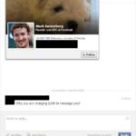 Send message to Mark Zuckerberg