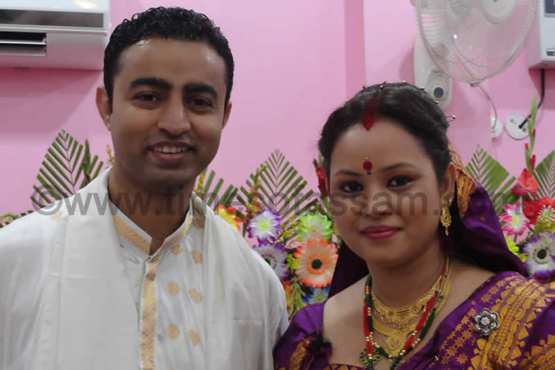Times of Assam Editor Priyankan Goswami's Wedding Photo