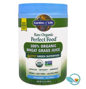 Garden of Life Raw Organic Perfect Food 100% Organic Wheat Grass Juice