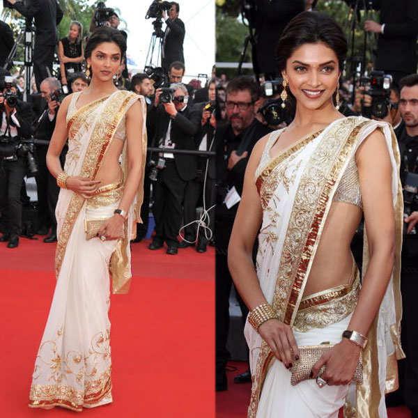 Deepika Padukone dons a sari at Cannes Film Festival