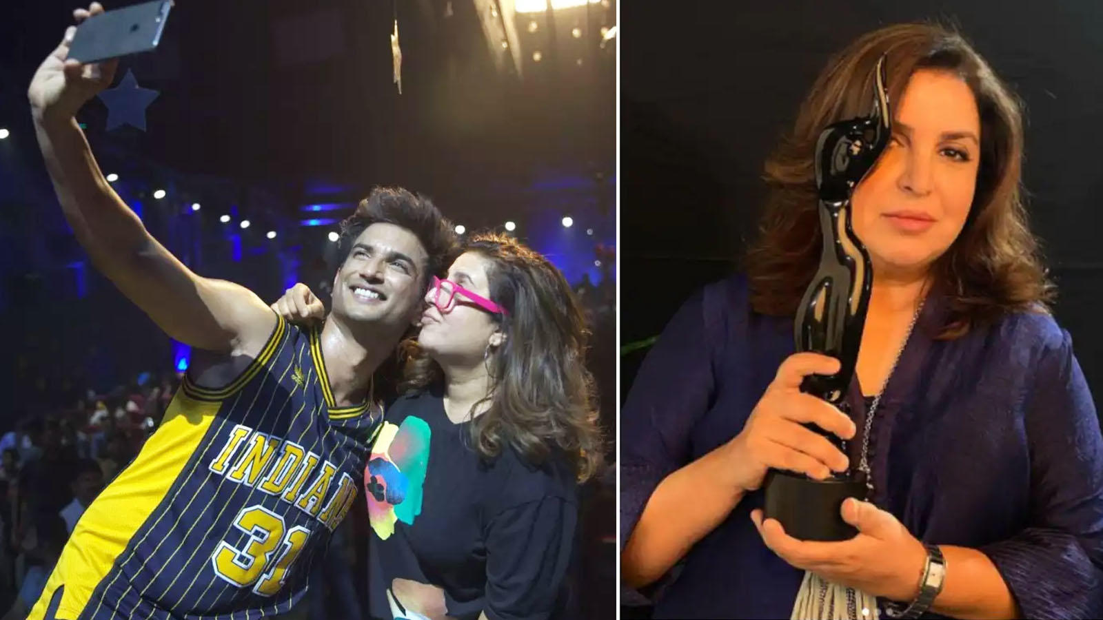 66th Vimal Elaichi Filmfare Awards 2021: Farah Khan remembers Sushant Singh Rajput as she wins Best Choreography for 'Dil Bechara', says, 'He turned my good choreography into an exceptional song'   Hindi Movie News – Bollywood – Times of India