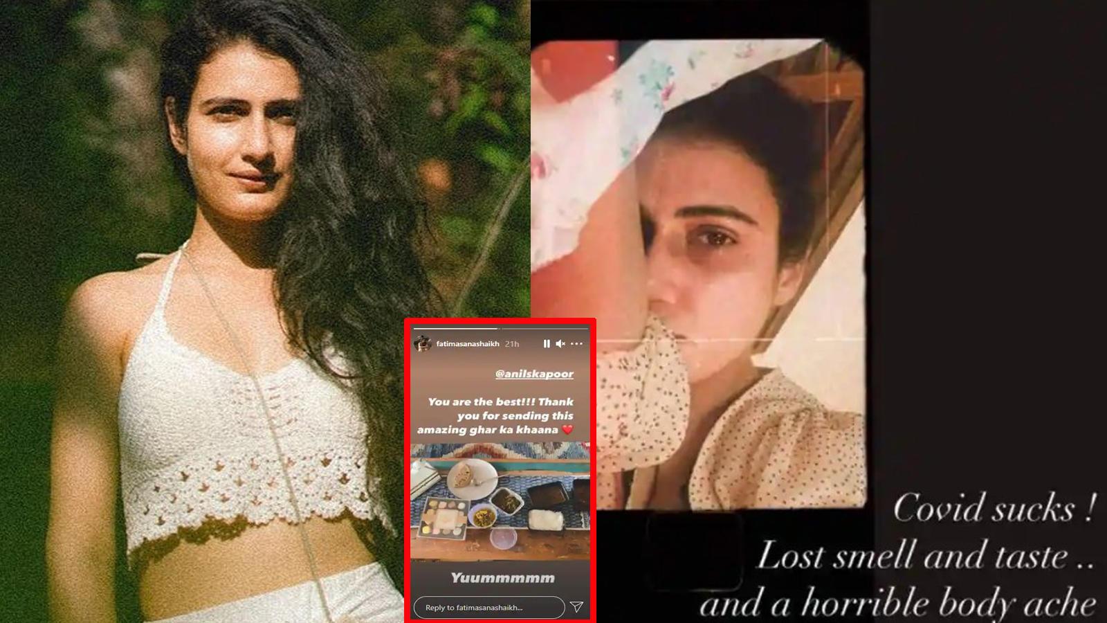'Covid sucks, Lost smell and taste' writes Fatima Sana Shaikh as she fights coronavirus, also thanks Anil Kapoor for sending her 'amazing ghar ka khaana' | Hindi Movie News – Bollywood – Times of India