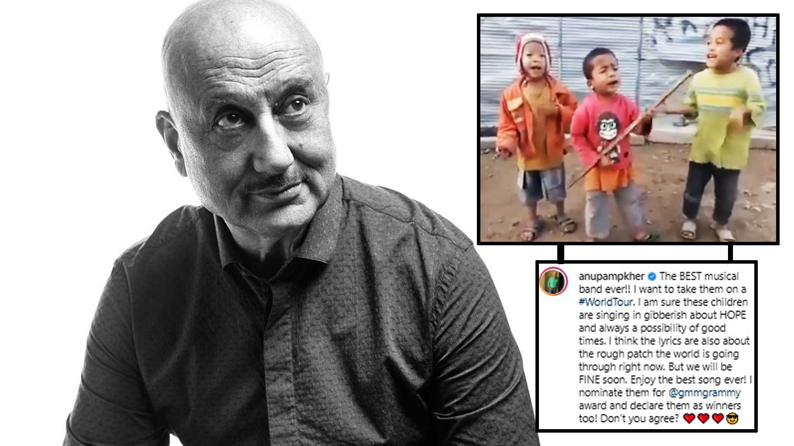 Anupam Kher shares a quirky post while expressing fondness for 'village boy band', says 'I nominate them for grammy' | Hindi Movie News – Bollywood – Times of India