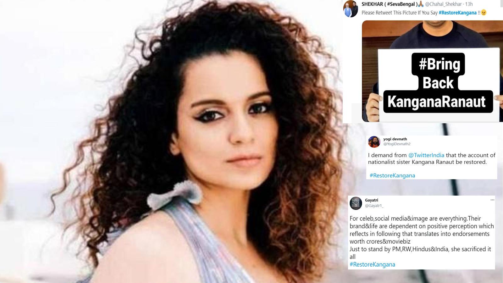 Kangana Ranaut's fans trend #RestoreKangana after suspension of her Twitter account   Hindi Movie News – Bollywood – Times of India