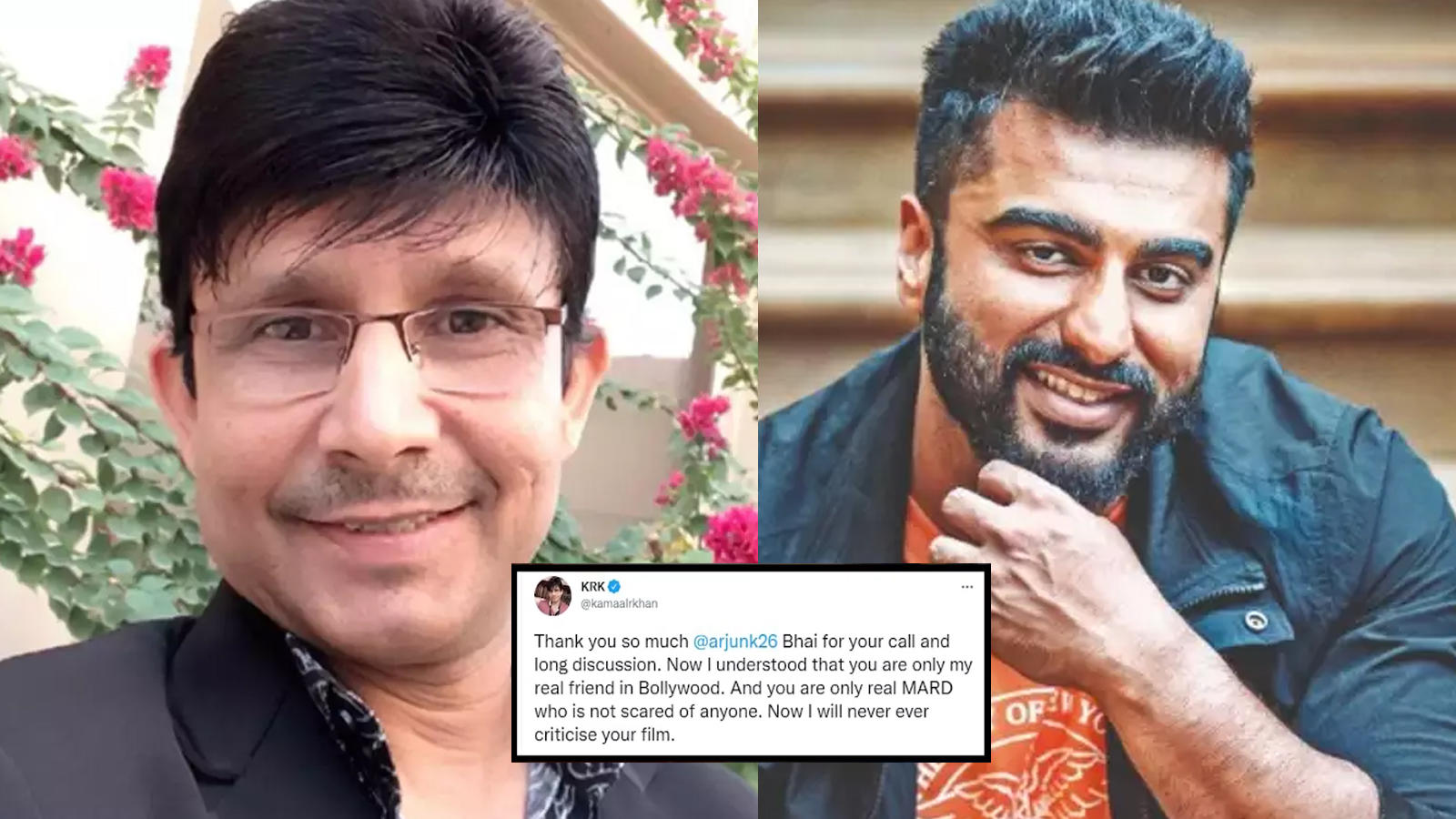 Kamaal R Khan aka KRK calls Arjun Kapoor his 'only real friend in Bollywood', says 'I will never ever criticize your film' | Hindi Movie News – Bollywood – Times of India