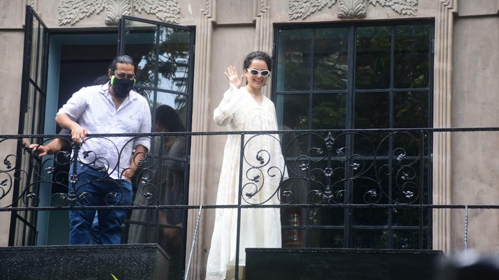 Kangana Ranaut was spotted at her Bandra office   Hindi Movie News – Bollywood – Times of India