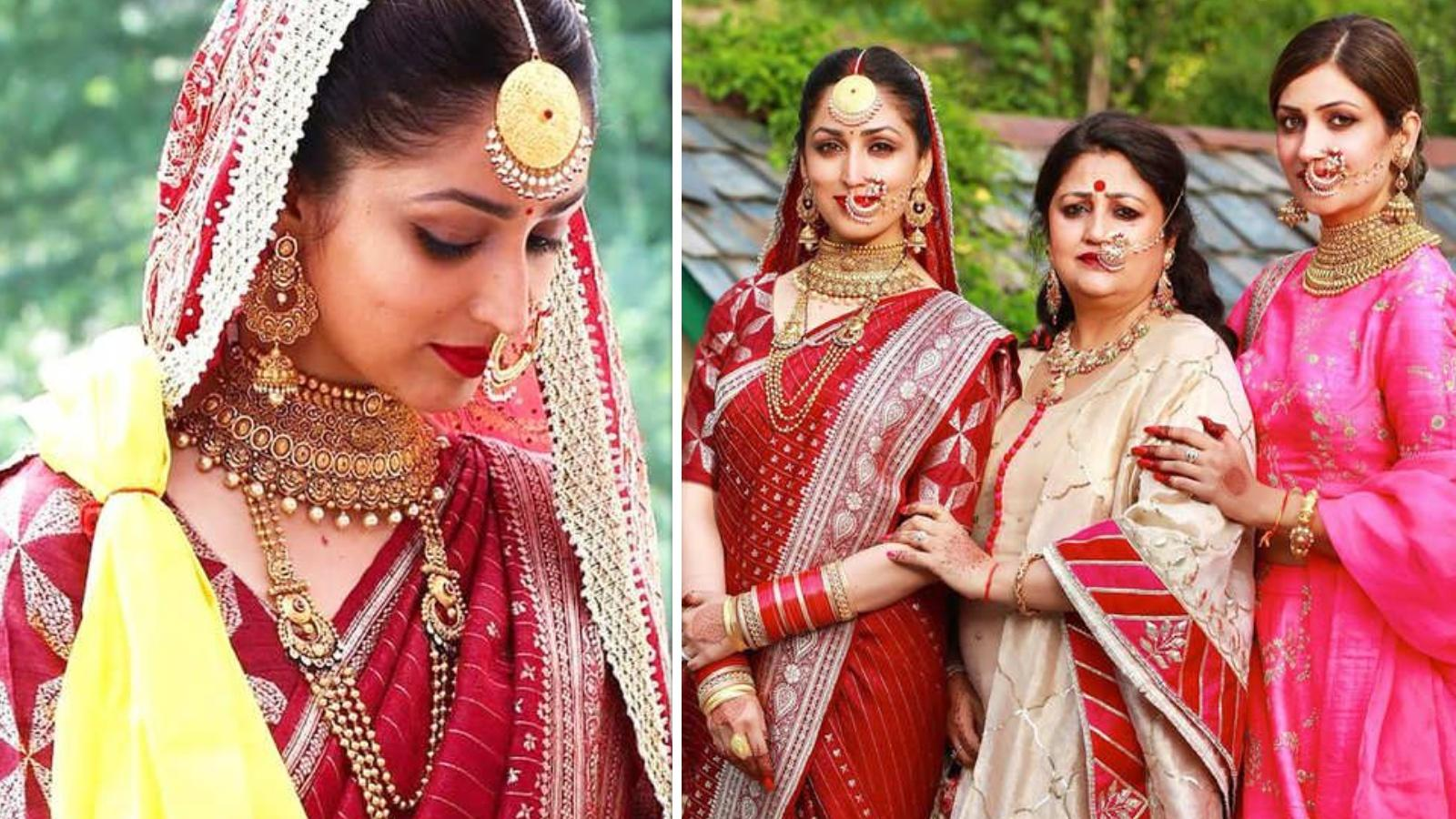 Did you know Yami Gautam wore her mother's 33-year-old sari as her wedding attire? More in the video   Hindi Movie News – Bollywood – Times of India