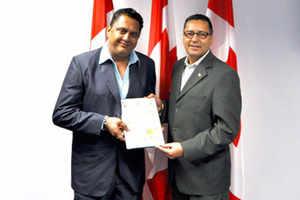 Canadian government honors Astro-numerologist Sanjay B Jumaani in Calgary