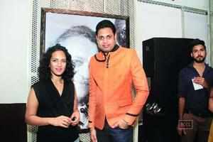 Sitarist Anoushka Shankar with Randhir Ranjan Roy at her concert in Mumbai