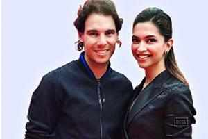 Tennis player Rafa Nadal meets Deepika Padukone in Delhi