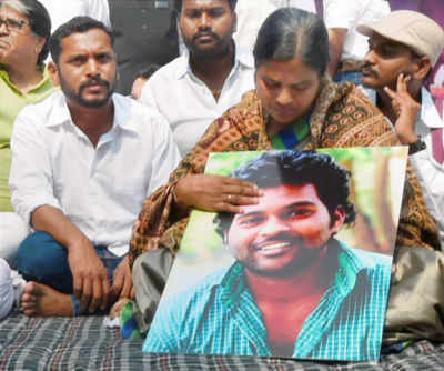 Rohith's mother Radhika Vemula