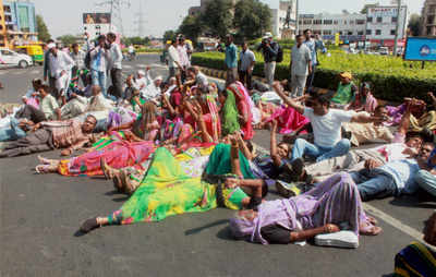Gujarat has seen several demonstrations by Dalits in recent times (PTI photo)