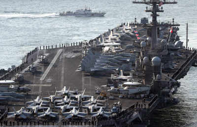 USS Carl Vinson is now headed from Singapore to the Western Pacific Ocean (Reuters file photo)