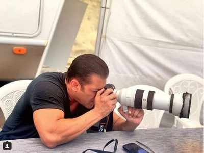 'Bharat': Salman Khan takes on the camera on the sets of the film