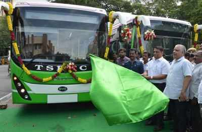 Image result for electric buses in hyderabad