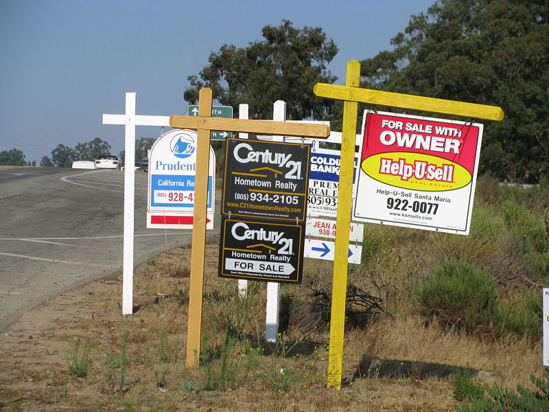 For-sale signs.