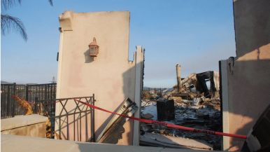 House on Black Rail Road was one of few destroyed Wednesday night in Carlsbad.